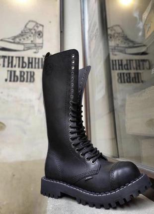Высокие стилы броги берцы сапоги ботинки steel 139/o black