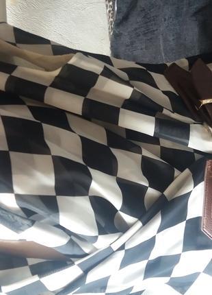 "Брендовое Платье ""Шахматная королева"" на запах"