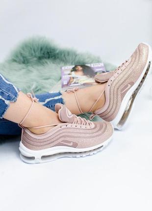 Шикарные женские кроссовки nike air max 97 swarovski gold 😍 (в...