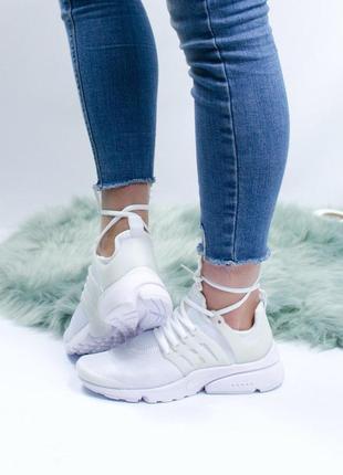 Шикарные женские кроссовки nike air presto white  😍 (весна/ ле...