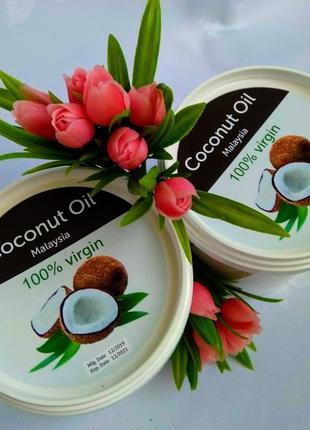 Кокосовое масло Малайзия 1 литр с ароматом кокоса