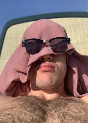Шикарные мужские солнцезащитные очки ray ban round clubmaster ...