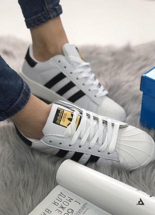 Шикарные женские кроссовки adidas superstar white 😍 (весна/ ле...