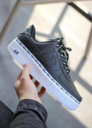 Шикарные мужские кроссовки nike air force 1 se premium black 😍...