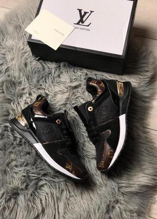 Шикарные женские кроссовки люкс чёрного цвета luxury 😍 (весна/...
