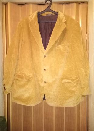 Вельветовые горчичный пиджак Hirmer