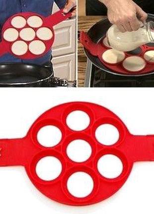 Силиконовая форма для жарки яиц и оладушек