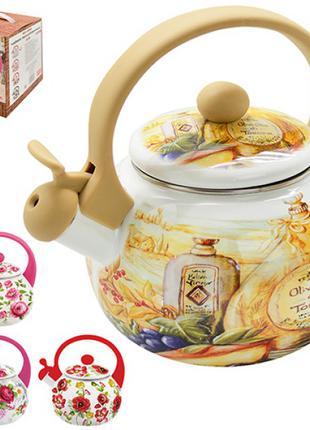 Чайник, Чайник емаль зі свистком 2.2л MH-3592