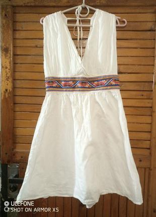 Легкая туника (платье мини) из тончайшего хлопка. soft grey торг
