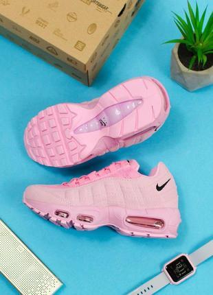 Шикарные женские кроссовки nike air max 95 full pink 😍 (весна/...