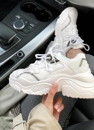 Шикарные женские хайповые кроссовки n•21 white 😍 (весна/ лето/...