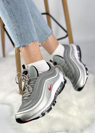 Шикарные женские кроссовки nike air max 97 silver bullet 😍 (ве...
