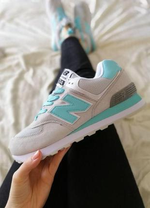 Шикарные женские кроссовки new balance 574 grey blue😍 (весна/ ...