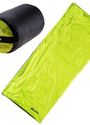 Спальний мішок Martes Gerd 180 Чорний з зеленим MTS-GERD-GRNBLK
