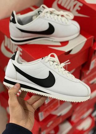 Шикарные мужские кроссовки nike cortez white black 😍 (весна/ л...