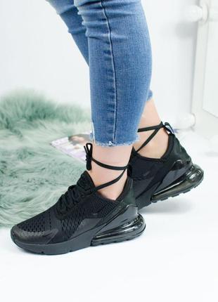 Шикарные женские кроссовки nike air max 270 full black 😍 (весн...