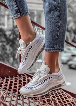 Шикарные женские кроссовки nike air max 97 full white 😍 (весна...