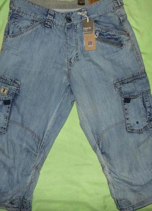 Мужские джинсовые шорты капри-timezone-30-этикетка!
