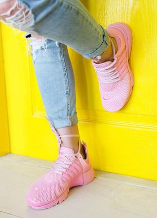 Шикарные женские кроссовки nike air presto pink 😍 (весна/ лето...