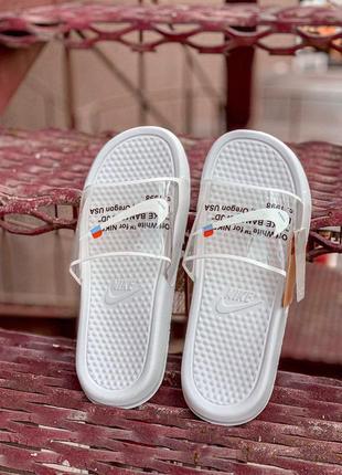 Шикарные женские летние сланцы nike off white slides 😍 (шлёпки...