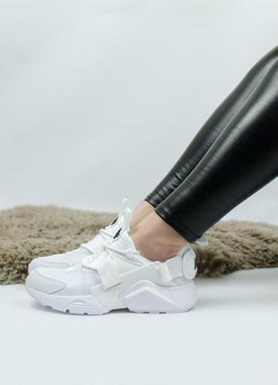 Шикарные женские кроссовки nike air huarache white 😍 (весна/ л...