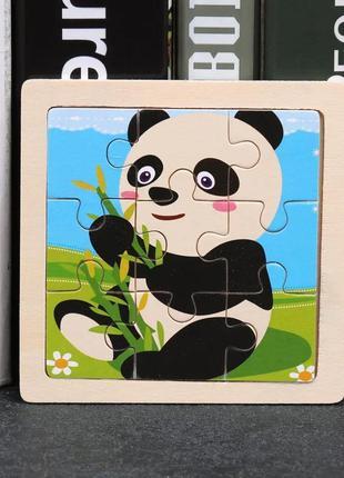3d деревянная головоломка пазл детская развивающая игрушка панда