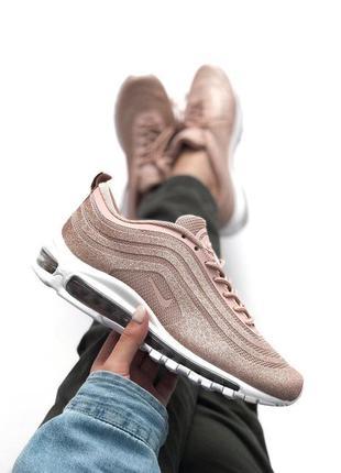 Шикарные женские кроссовки nike air max 97 pink swarowski 😍...