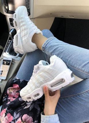 Шикарные женские кроссовки nike air max 95 full white 😍 (весна...
