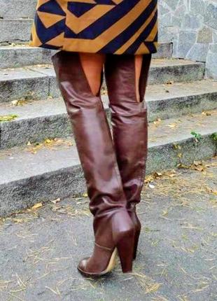 Ботфорты zara кожаные испания размер 40-41
