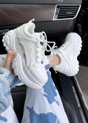 Шикарные женские кроссовки на платформе buffalo london white 😍...
