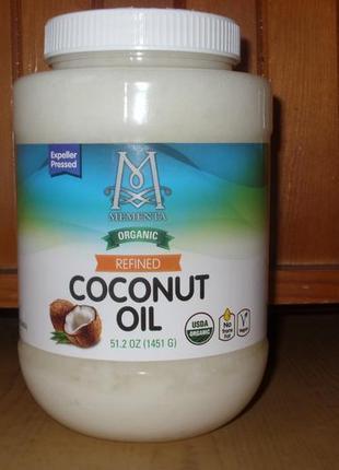 Органическое рафинированное кокосовое масло