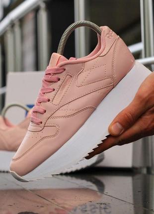 Шикарные женские кроссовки reebok classic platform pink 😍 (вес...