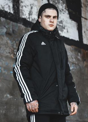 Куртка мужская adidas черная лампас / курточка чоловіча адидас...