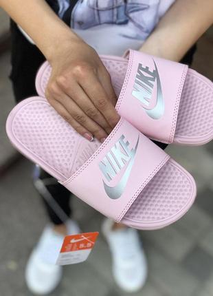 Шикарные женские летние сланцы nike pink оригинал 😍 (шлёпки/ т...