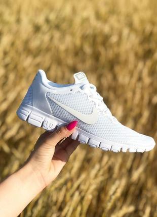 Шикарные женские кроссовки nike free run 3.0 full white 😍 (вес...