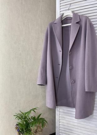 Пальто пиджак жакет лавандовое шерсть кашемир кашемір оригінал...