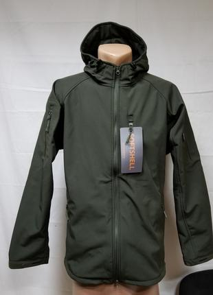 Распродажа Куртки софтшел Олива