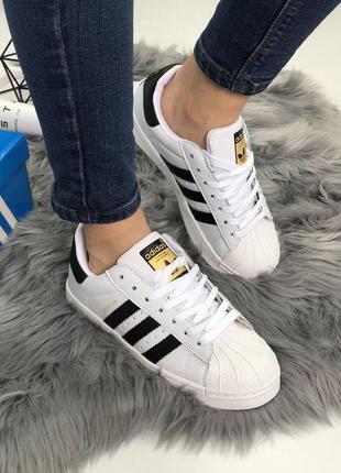 Женские кроссовки adidas superstar white classic 😍 (весна/ лет...