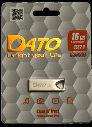 Найдешевша металічна флешка 16 ГБ usb 2.0 накопичувач Dato ds7002