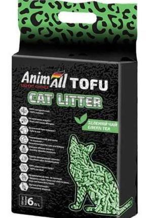 Соевый наполнитель в кошачий туалет AnimAll Tofu 6 литров 2,6 кг