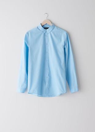 Классическая рубашка, рубашка голубаю, мужская рубашка