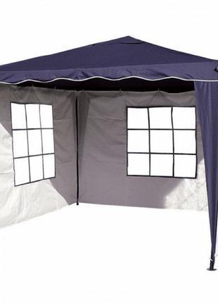 Павильон шатер садовый 3х3 с 3 стенками (тент - полиэстер+ПВХ).
