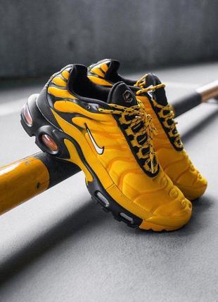 Шикарные мужские кроссовки nike air max plus tn yellow/black 😍...