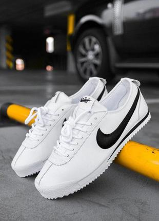"Шикарные мужские кроссовки nike cortez ""white/black 😍 (весна/ ..."