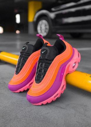 """Шикарные женские кроссовки nike air max plus / 97 """"racer pink""""..."""