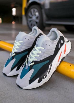 Шикарные кроссовки adidas yeezy boost 700 wave runner solid ун...