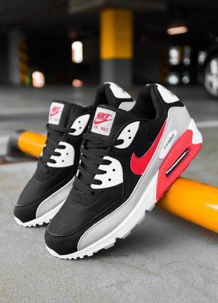 """Шикарные мужские кроссовки nike air max 90 """"black/grey/red"""" 😍 ..."""