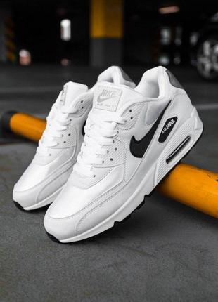 "Шикарные мужские кроссовки nike air max 90 ""white/black"" 😍 (ве..."