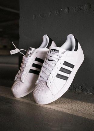 Шикарные кроссовки adidas superstar white/black  унисекс 😍 (ве...