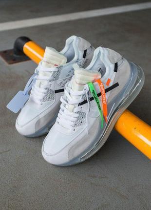 """Шикарные мужские кроссовки nike off-white new """"grey"""" 😍 (весна/..."""